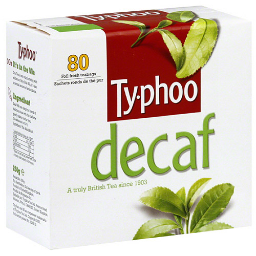 Typhoo Decaf Black Tea, 80 count, (Pack of 6)