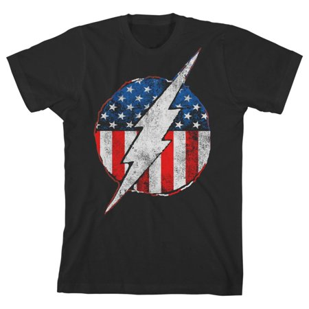 Robin X Kid Flash (Youth Boys Flash TShirt Flash Symbol Red White and Blue)