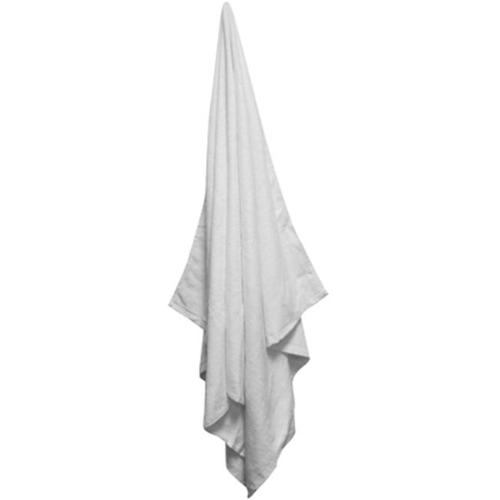 Bulk Buys 35x60 100 percent Cotton Solid Color Velour White Beach Towel - Case of 48