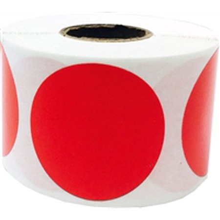 Red Circle Dot Stickers, 1.5 Inches Round, 500 Labels on a Roll for $<!---->