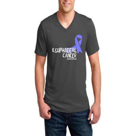 Esophageal Cancer Awareness Men V-Neck Shirts Ringspun Tee