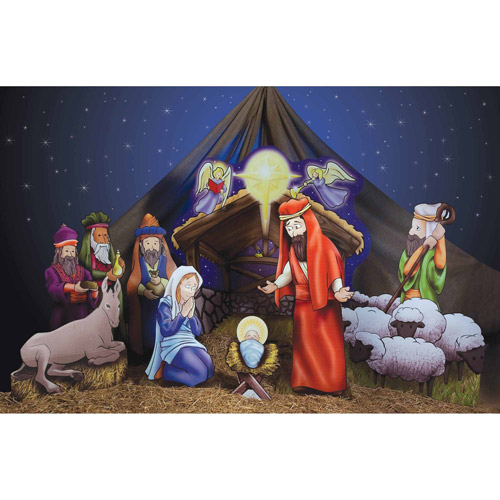 Nativity Scene Standee Set