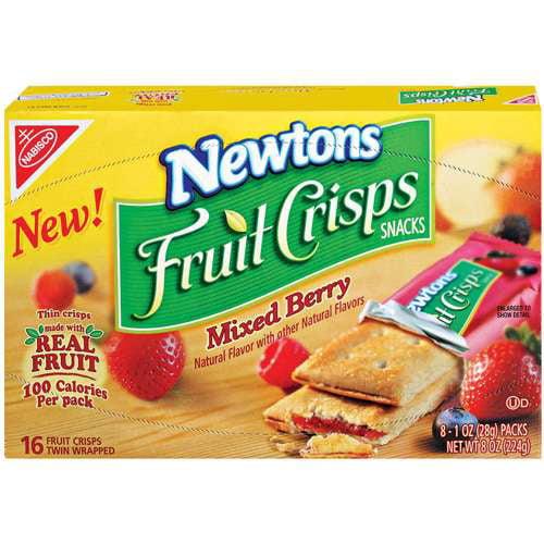 Nabisco Newtons: Fruit Crisps Snacks Mixed Berry 1 Oz Packs, 8 Ct