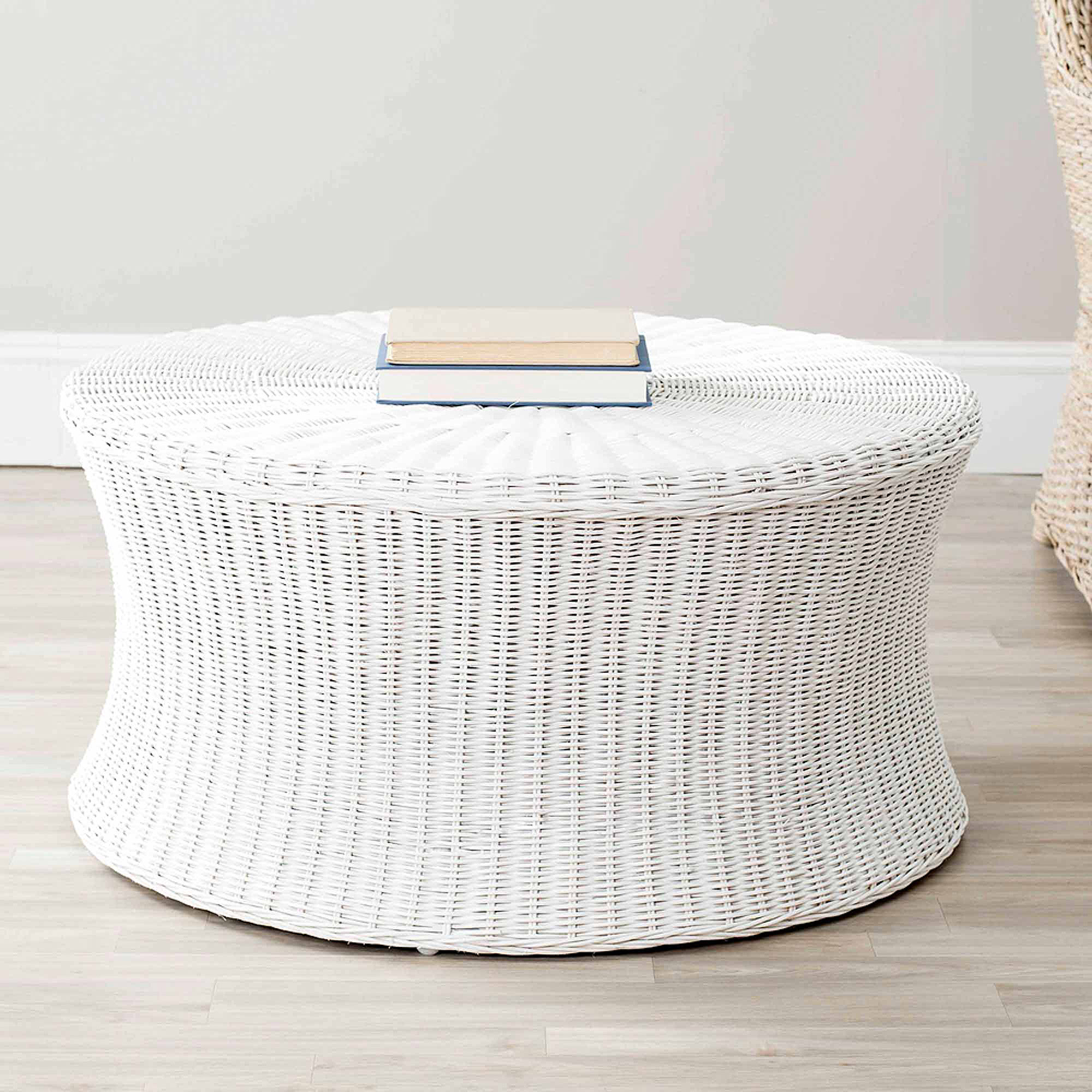 Safavieh Ruxton Rattab Kubu Split Cocktail Ottoman, Multiple Colors