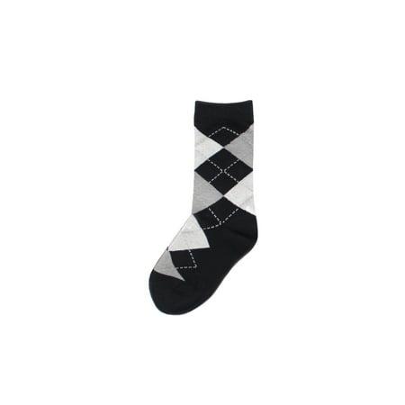 MeMoi Boys Argyle Socks | Boys Dress Socks and Argyle Socks by MeMoi 8 / Black MK 114