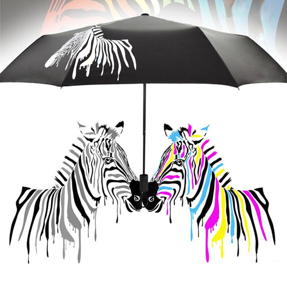 Sea Turtles Automatic Tri-fold Umbrella Folding Rain Umbrell Sunshade