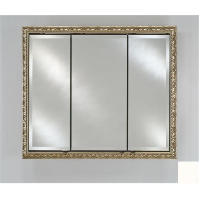 Afina Corporation TD4430RARLWT 44 in.x 30 in.Recessed Triple Door Cabinet - Arlington White