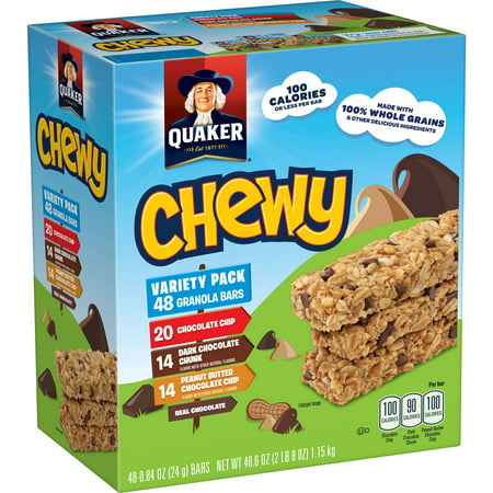 Quaker Chewy Granola Bars, Variety Pack, 48 Bars