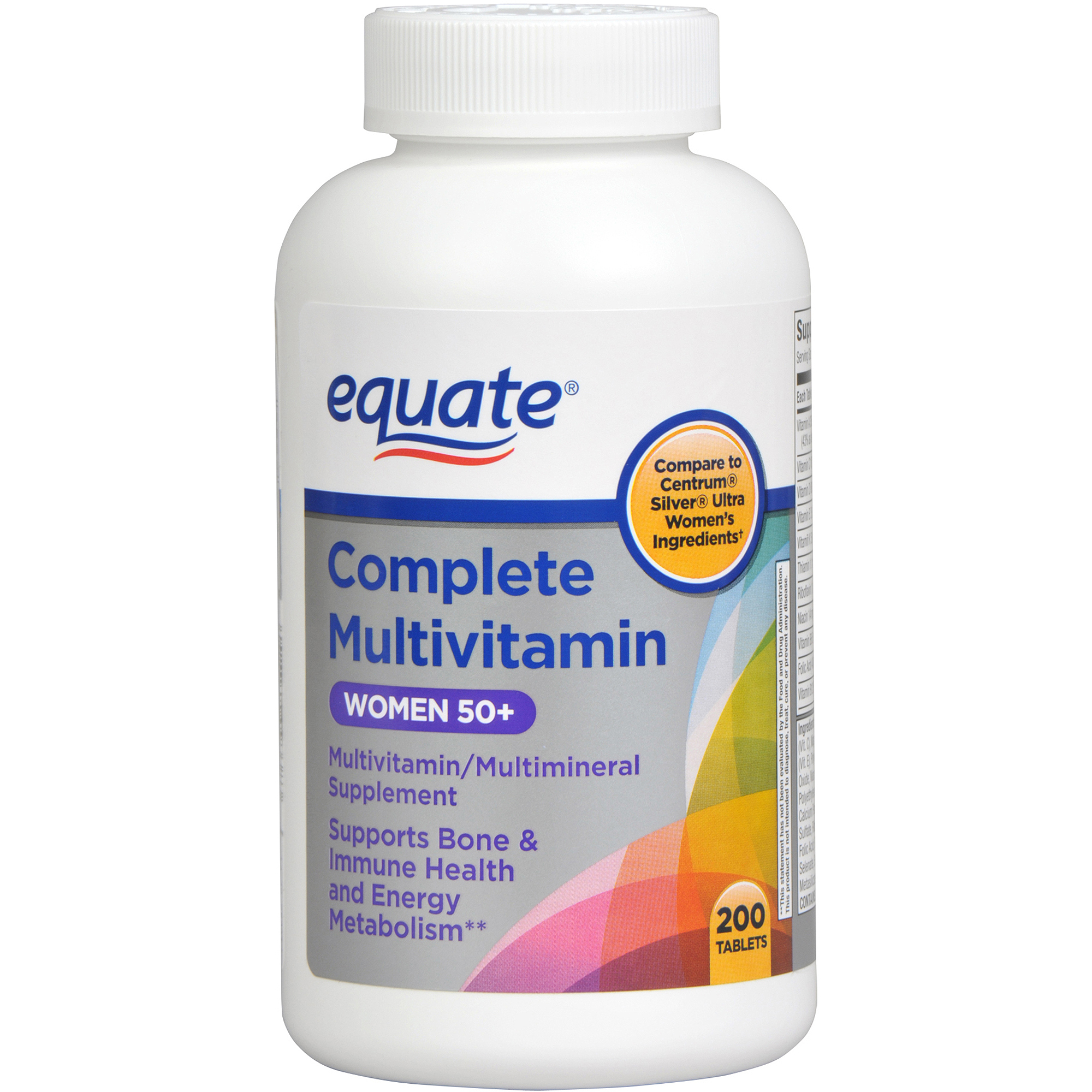 Equate Complete Ultra Women's Health Age 50+ Multivitamin/Multimineral, 200ct