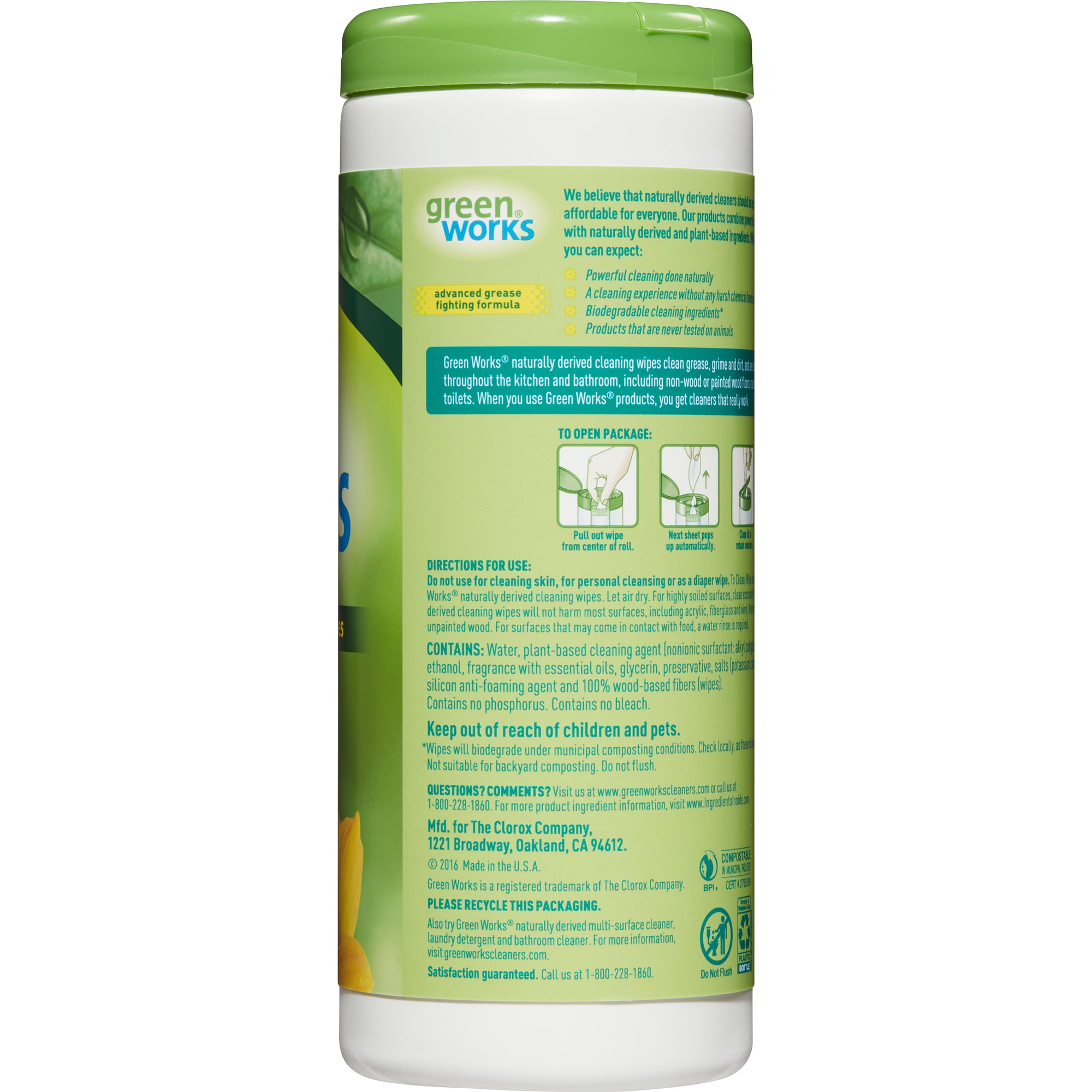 Green Works Natural Household Cleaning Compostable