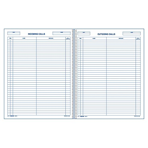 """REDIFORM Call Register Book, 11 x 8.5"""", 100 Pages (50111)"""