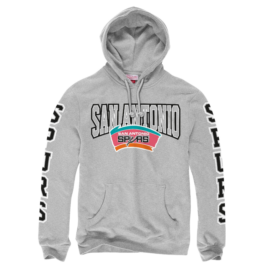 "San Antonio Spurs Mitchell & Ness NBA ""Visiting Team"" Pullover Hooded Sweatshirt"