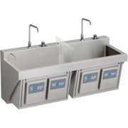 Elkay EWSF26026KWSC Commercial Scrub Sink with 2 Faucet Holes
