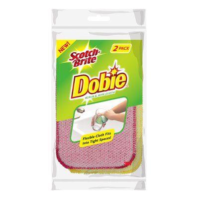 Scotch-Brite Dobie Non-Scratch Scrub and Wipe Cloth, 2 Count
