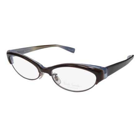 New Paul Smith 412 Womens/Ladies Cat Eye Full-Rim Brown / Blue High Quality Modern Cat Eyes Frame Demo Lenses 50-16-135 Eyeglasses/Eye Glasses - Cat Eye Glasses Frames
