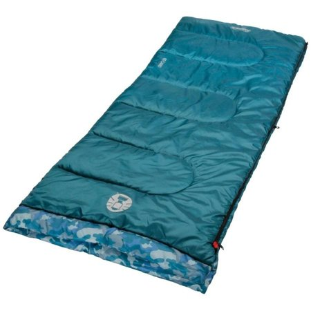 Coleman Kids Camo 45 Degree Sleeping Bag - Shark Plush Sleeping Bag