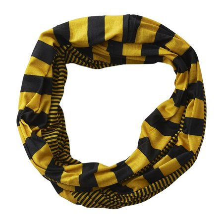 Design Imports GDY101-BKG 10 x 31 in. Game Day Stripes Infinity Scarf - Black & Gold - image 1 de 1
