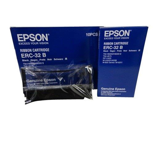 Genuine Epson ERC-32 B Black Printer Ribbon Cartridges 10PCS C43S015371