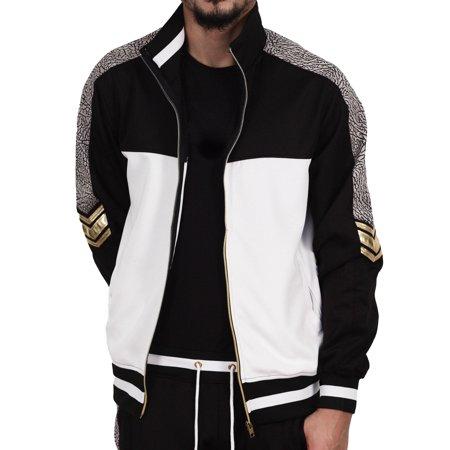 Bleecker & Mercer Color Block Track Jacket with Contrast Trim Black ()