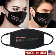 3Pcs Unisex Face Mask Protect Reusable 100% Cotton Comfy Washable Made In USA Black Christian Bible verses Red Rhinestone