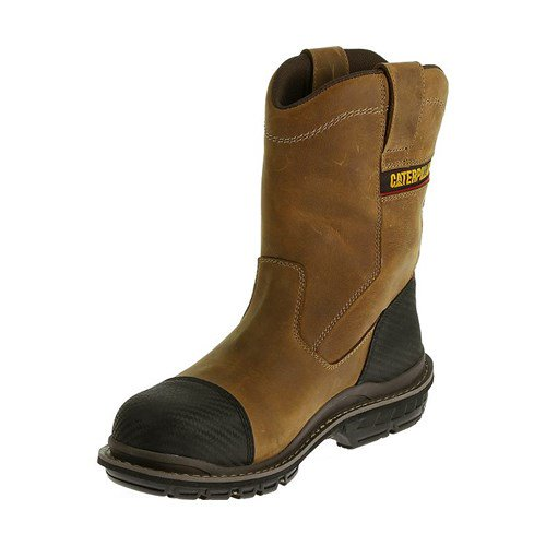 7af5548289e CAT Footwear Fabricate Pull On Tough Composite Toe - Dark Beige 14(M)  Fabricate Pull On Tough Composite Toe Mens Work Boot