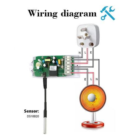 DS18B20 Waterproof Digital Temperature Sensor Stainless Steel Thermal Probe - image 6 de 7
