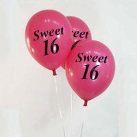"Efavormart 12"" Metallic Latex Balloons-Sweet 16-25/pk"