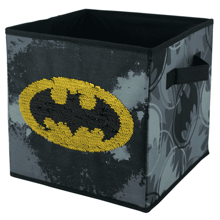 Batman Reversible Sequin Storage Cube](Batman Chest Piece)