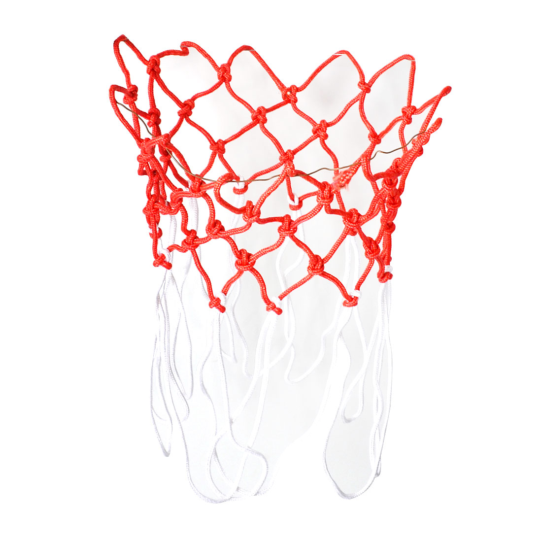 "Unique Bargains Unique Bargains 2 Pcs 15.7"" Long Durable Indoor Outdoor Sport Braided Nylon Basketball Nets"