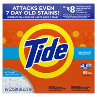 Tide Powder Laundry Detergent, Clean Breeze, 68 loads, 95 oz