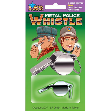 Conductor Halloween Costumes (Joker Metal Police & Train Conductor Costume Whistle, Silver,)