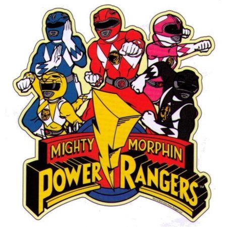 Power Rangers Sticker (Mighty Morphin Power Rangers Characters Logo Sticker)