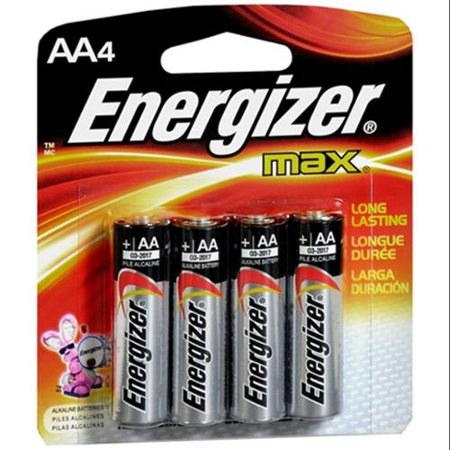 Energizer Alkaline Batteries AA 4 ea (Pack of 2)