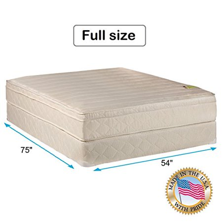 Comfort Pedic Firm Pillow Top  Eurotop  Full Size 54  X75  X11   Mattress   Box Spring   Sleep System With Enhance Support  Fully Assembled  Plush Knit Cover  Great For Your Back By Dream Solutions Usa