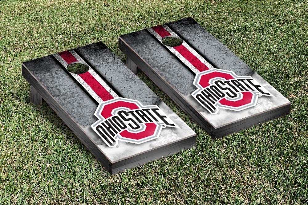 Ohio State OSU Buckeyes Regulation Cornhole Game Set Vintage Version by Victory Tailgate