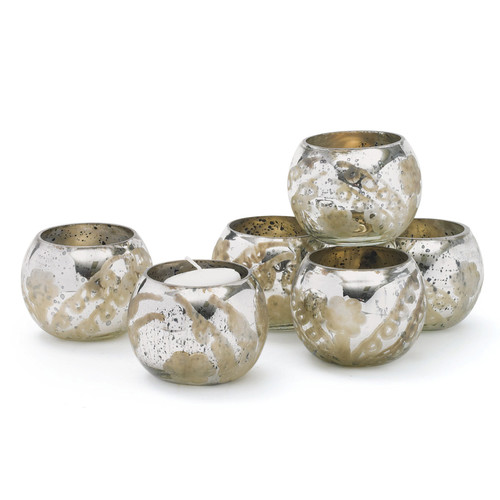 Hip Vintage Pristine Glass Votive Holder (Set of 6)