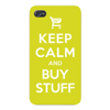 Apple Iphone Custom Case 4 4s White Plastic Snap on - Keep Calm and Buy Stuff  Add to Cart  Online Shopping East access to all buttons and ports