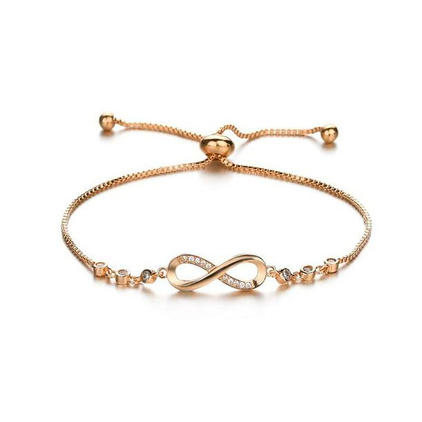 Adjustable Silver Infinity Ladies Women Friendship Bridesmaid Wedding Bracelet