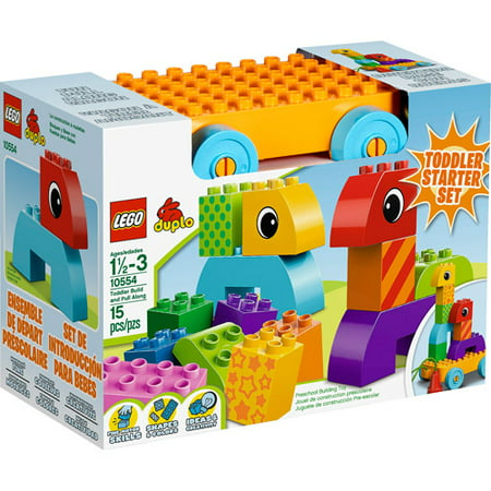 LEGO DUPLO Creative Play Toddler Build and Pull Along Play Set