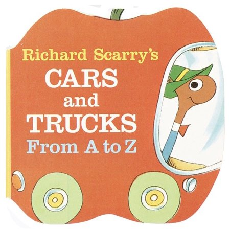Richard Scarrys Cars and Trucks from a t (Board Book) - Halloween Board Books For Toddlers