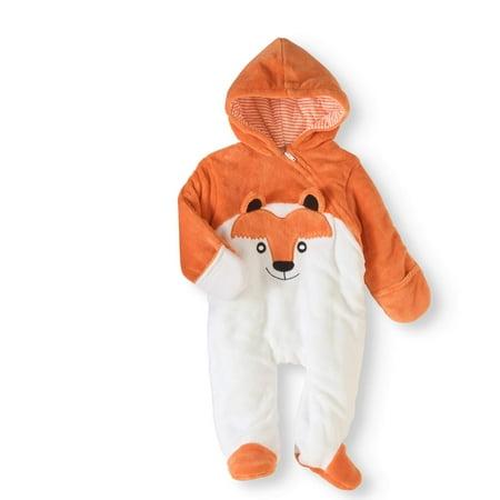7ee21b3b6 Newborn Boy or Girl Unisex Fleece Fox Critter Snowsuit Pram ...
