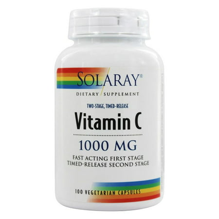 Solaray - Vitamin C Two-Stage Timed-Release 1000 mg. - 100 Vegetarian