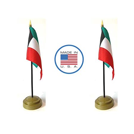 Made in The USA Flag Set. 2 Kuwait Rayon 4