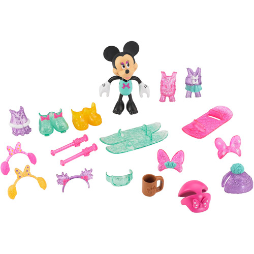 disney minnie mouse winter bow tique play set walmart