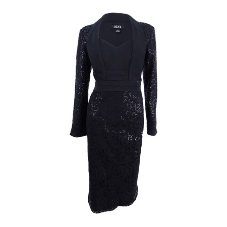 Sl Fashions - SL Fashions Women's Sequined Lace Tuxedo Dress