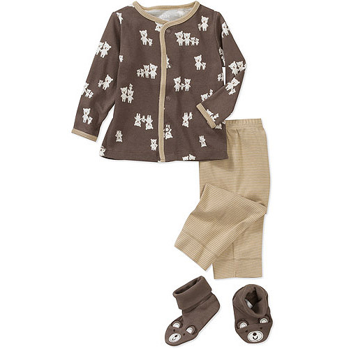 Child of Mine Carters Newborn Boys' 3-Piece Cardigan, Pant and Bootie Set