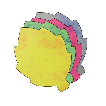 Assorted Leaves - Large Marble Assorted Cut-Out - Leaf