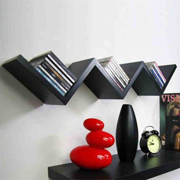 Modern Wall Book Shelf Fashionable Creative Floating Wall Shelf Bookshelf Home Decor Walmart Com Walmart Com