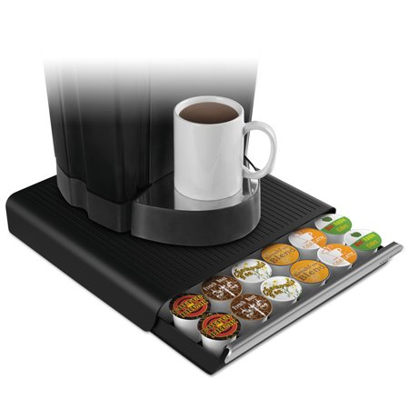 Mind Reader Coffee Pod Drawer  Fits 36 Pods  14 3 4 X 13 1 4 X 2 3 4  Black