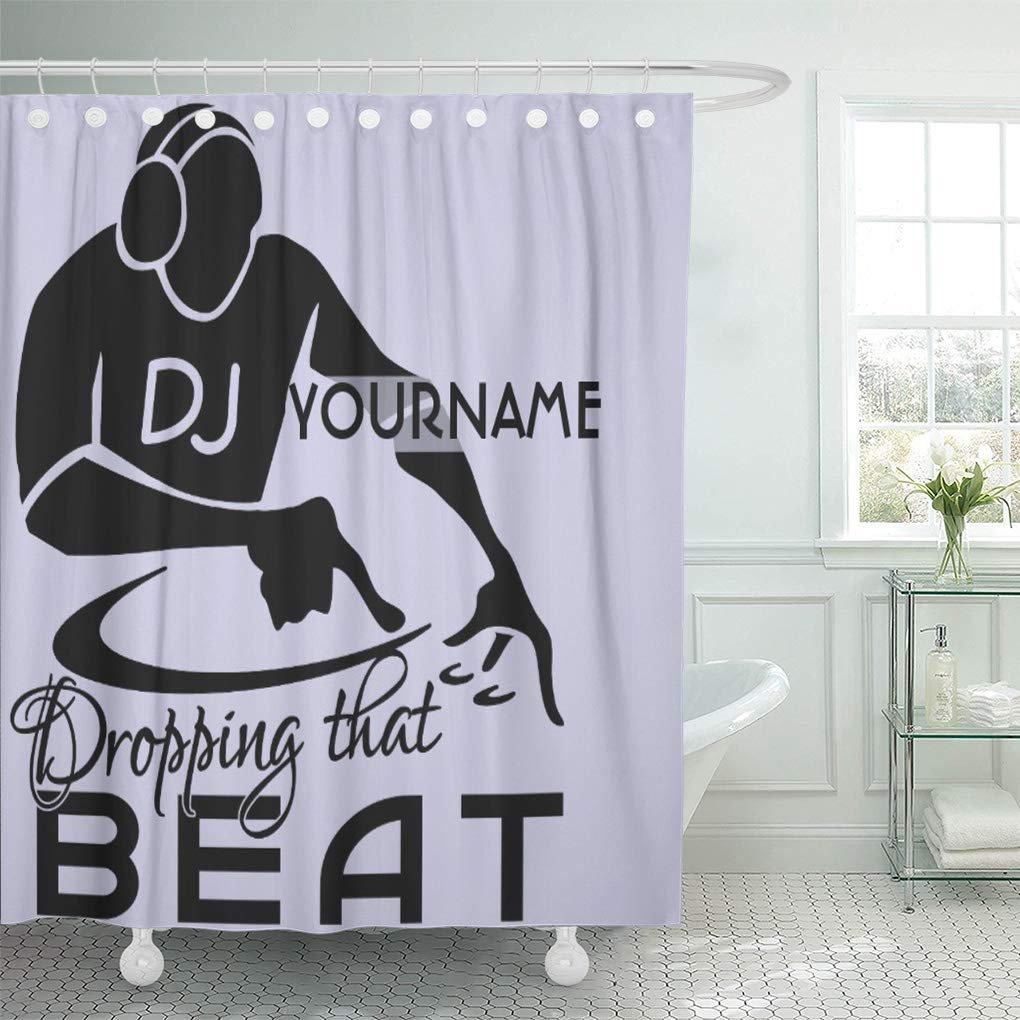 Suttom Deejay Dj Custom Music Record Headphones Drop Beat Fun Shower Curtain 60x72 Inch Walmart Canada